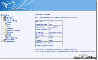Настройка PPPoE на модеме ASUS AM-604