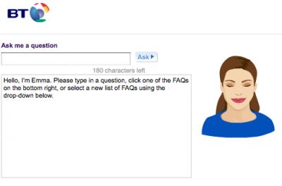 Система Customer Care оператора British Telecom - Ask Emma
