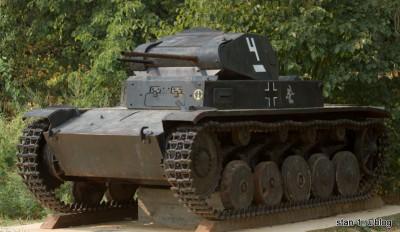 Немецкий пулеметный танк Pz Kpfw II периода начала Великой Отечественной Войны