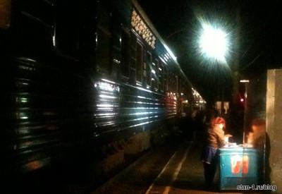 Продажа мороженного на станции на пути следования в Воронеж