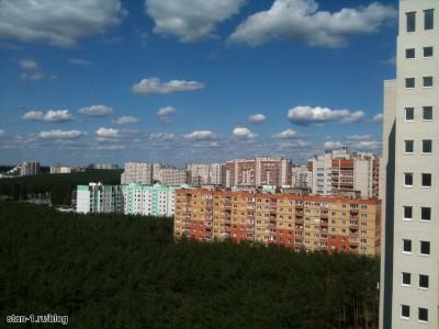 Вид из окна новостройки в Воронеже