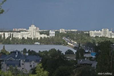 Вид на город от стелы воинской славы в Воронеже
