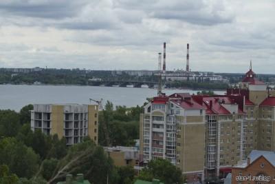 Вид на промышленные районы Левого берега Воронежа