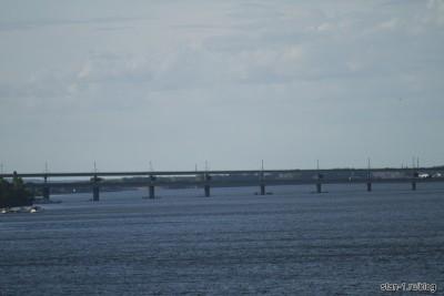 Северный мост в Воронеже. Верхний уровень - трамваи