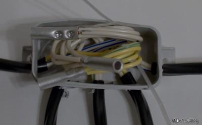 Провода, соединенные гильзами
