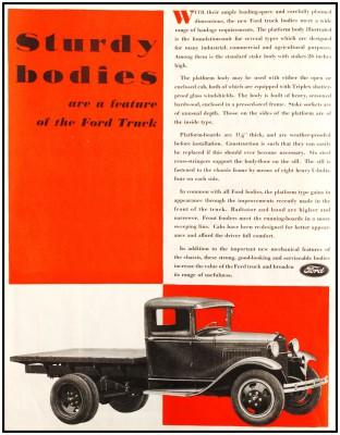 Реклама характеристик грузового автомобиля Ford AA