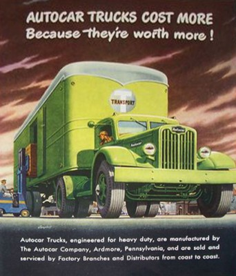 Реклама автомобилей Autocar SA