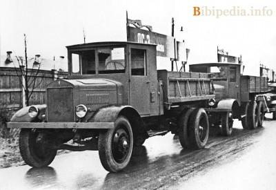 Колона грузовиков ЯГ-6