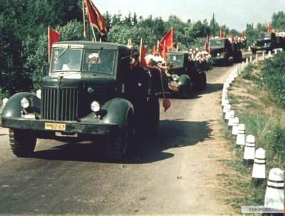 Колона МАЗ-200 везет детей в пионерлагерь (Дело Румянцева)
