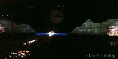 Концерт Pink Floyd в Москве - начало