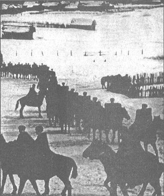 Конница генерала П.А. Белова на марше