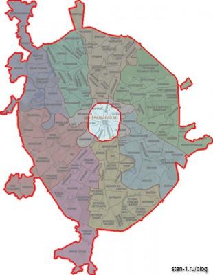 Границы Москвы в 1739 году