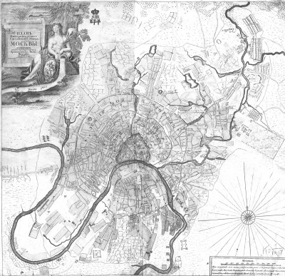 Карта Москвы 1739 года