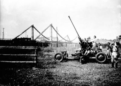 Зенитки у Крымского моста
