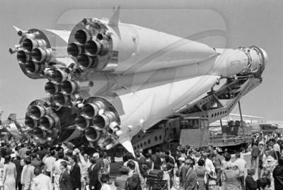 Показ ракеты Р-7 в Ле-Бурже в 1967 году